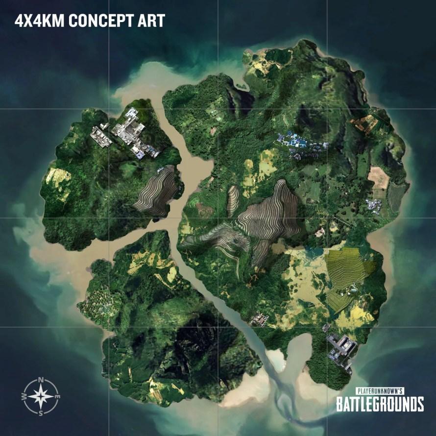 nouvelle map pubg 4x4 ile