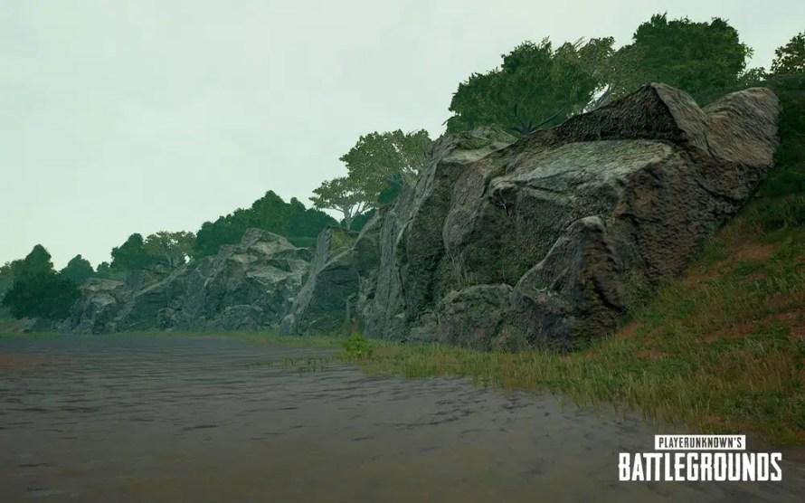 Ajout de détails (Mousse, autre) sur les rochers proche de la Côte