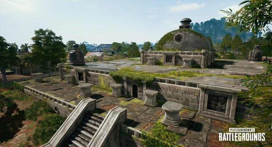 Ruins – Seuls les joueurs les plus téméraires affronteront ces chambres étriquées. Les Ruins récompensent les combats rapprochés par tout le butin que vous pourrez transporter. Passez par le toit pour lancer l'assaut sur le temple, ou infiltrez-vous par les tunnels au sol.
