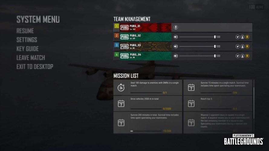 Amélioration du menu système
