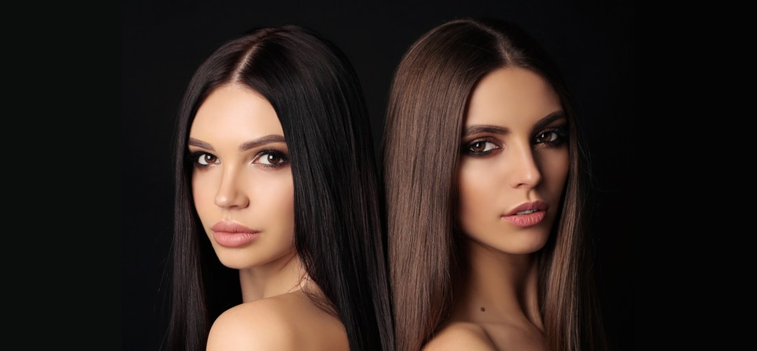 two woment with straighten hair