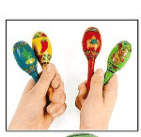 Cinco De Mayo Mini Wooden Fiesta Maracas