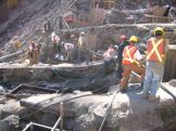 Pouring Foundations for Trestle 4. Photo taken Oct 4, 2006.