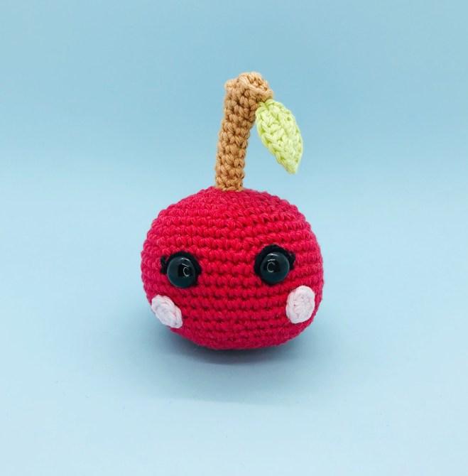 patron crochet cerise kawaii