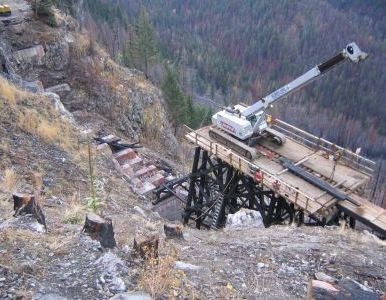 Trestle 13 from above.