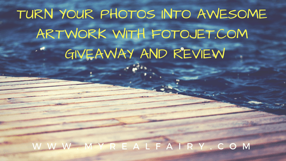 Turn your photos into awesome artwork with FotoJet. Giveaway and Review