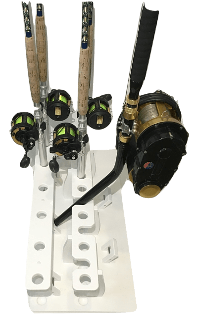 Fishing Rod Rack For 17 Big Game Rods Plus A 5 Curved Butt Rod Holder