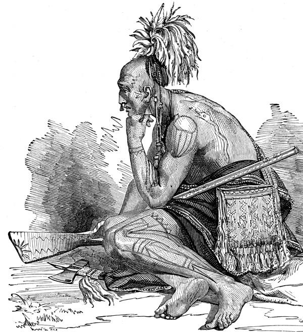 Huron Indian warrior