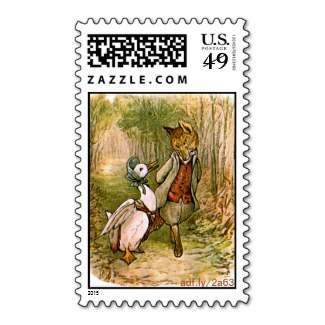 The Fox and Jemima Puddle-Duck U.S. Postage Stamps