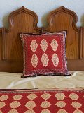 Spice Route ~ Red Orange Moroccan Decorative Throw Cushion Cover 18x18