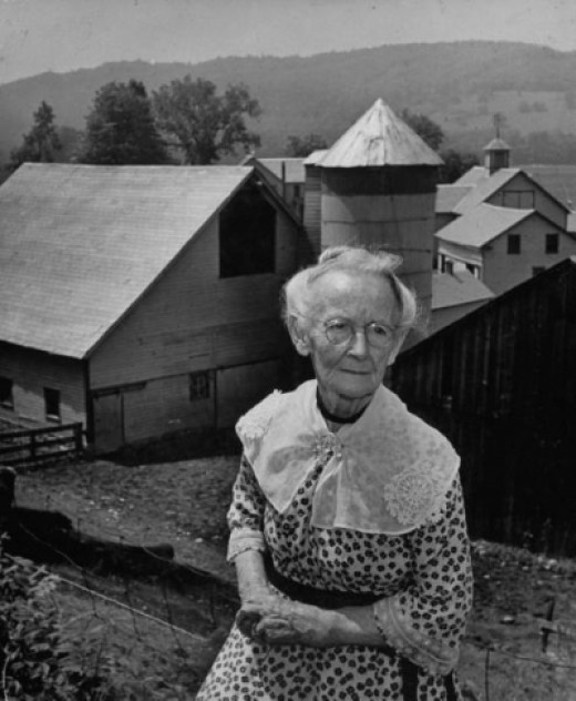 Portrait of Grandma Moses On Her Farm