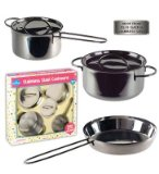 Children's Stainless Steel Cookware Set 5 Pc. Gift Set including Sauté Pan, Stock Pot and Sauce Pan *Perfect Gift Idea*