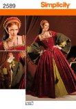 Simplicity 2589 Sew Pattern WOMEN'S ELIZABETHAN COSTUME Plus Size 16-24