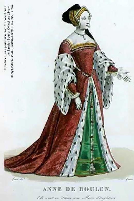 Plate depicting Anne Boleyn