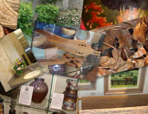 A collage of The Artisan Center displays.