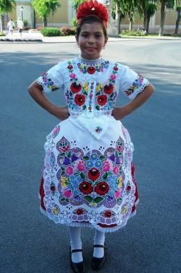 Costume of Kalocsa region of Hungary