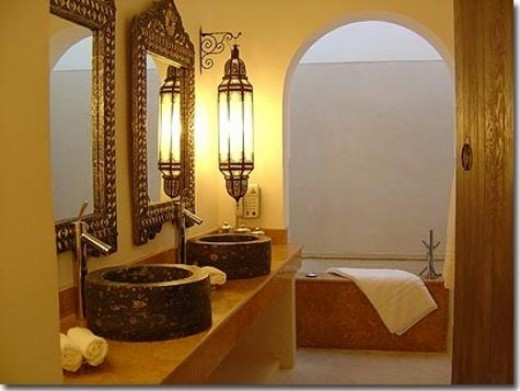 Bathroom In Moroccan Style