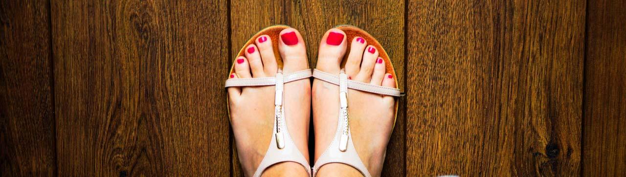 wood floor with pretty feet