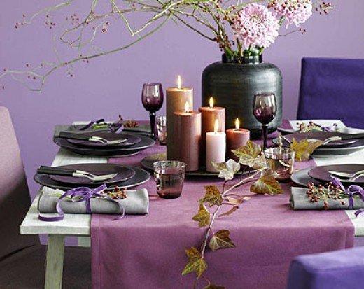 Violets are part of the season's color palette
