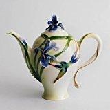 Franz Porcelain Long Tail Hummingbird Design Teapot