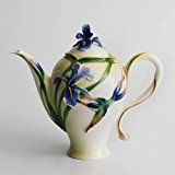 Franz Porcelain Long Tail Hummingbird Design Teapot