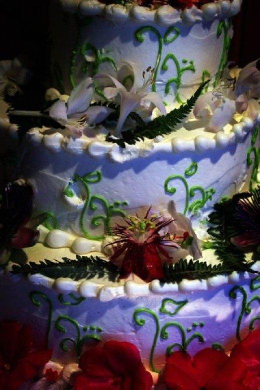 Cake in Botanical Theme