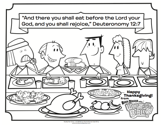 thanksgiving coloring picture