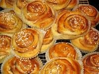 Warm rolls from the oven