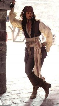 Johnny Depp as a pirate