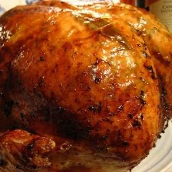 A finely roasted turkey