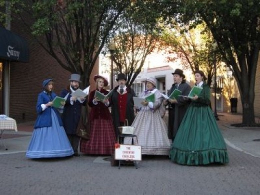 Festive Carolers from Dickens Time