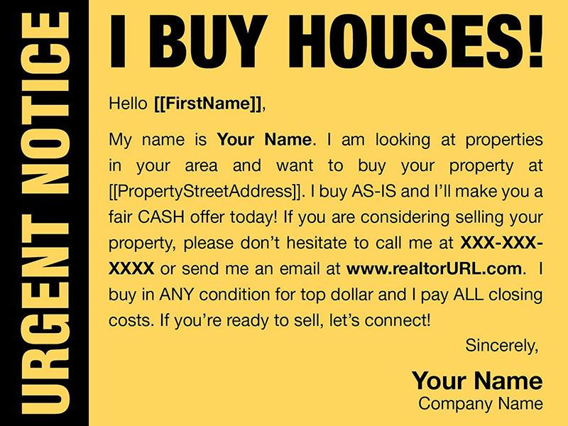 28/06/2021· 17 best real estate prospecting letter templates for 2021. Real Estate Investor Postcards
