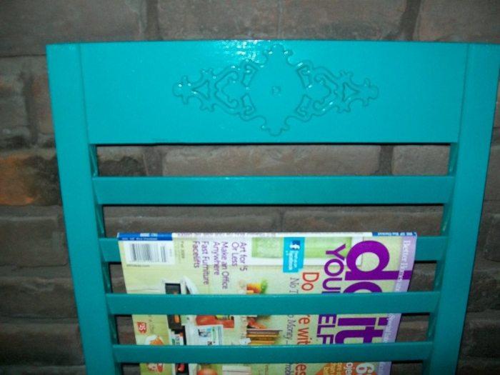 repurposed shutter magazine holder