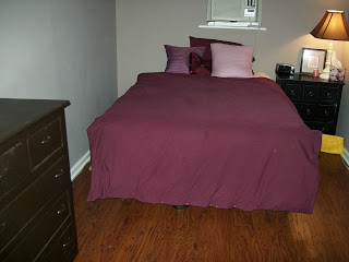 attic bedroom gets new laminate floor
