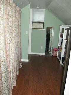 bedroom attic organization