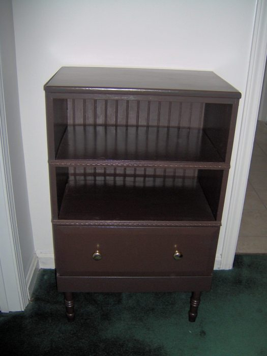tv stand out of an old nightstand
