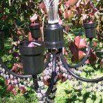 Chandelier to romantic candelabra