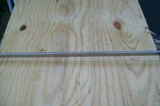 clamp glue bead board for back of window cabinet