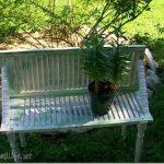 Repurposed Shutter garden bench