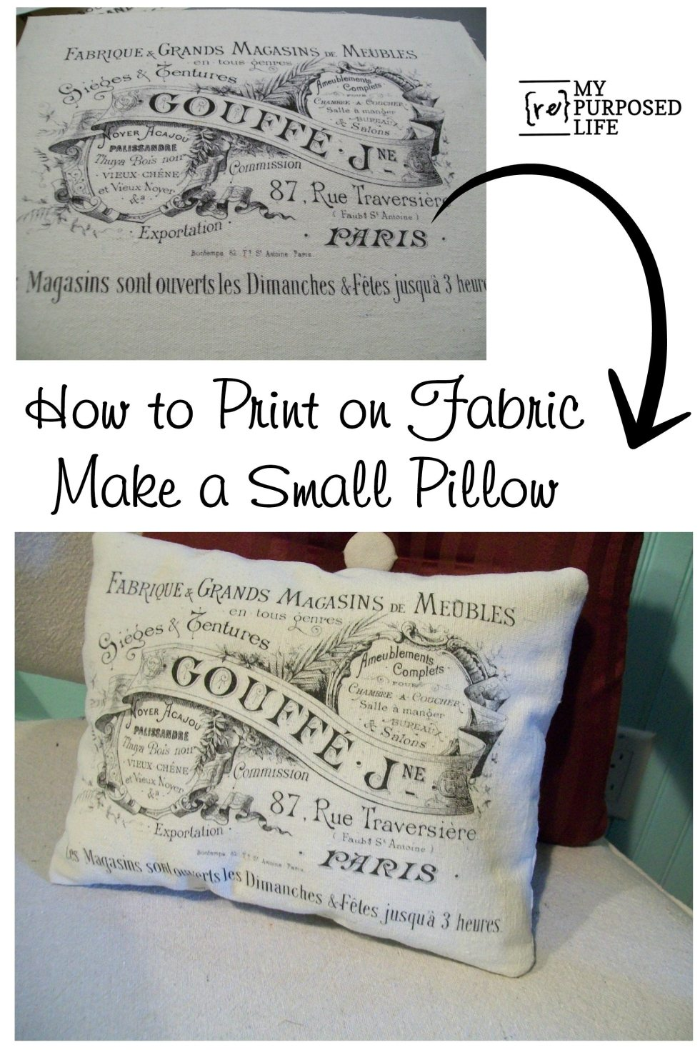 how to print on fabric with a home printer and full label sheets #myrepurposedlife #diy #easy #printonfabric