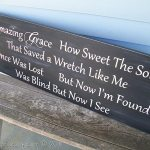 Headboard repurposed into an Amazing Grace sign