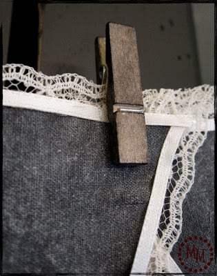 chalkboard bunting on fabric
