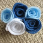 Guest Post Felt Rosette Pins by Elizabeth & Co