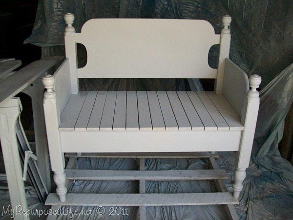 Twin Headboard Bench Tutorial My Repurposed Life