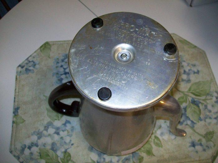 how to take apart a vintage coffee pot
