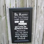 Repurposed Cupboard Doors Signs