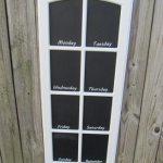 Easy Chalkboards from paned Cupboard doors