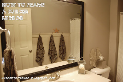 How To Frame A Builder Mirror