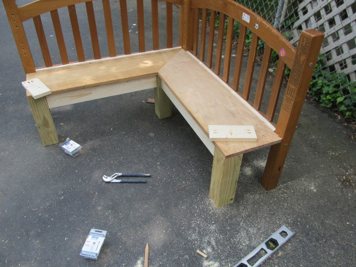 add skirt to corner bench with pocket hole screws
