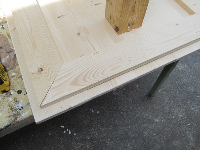 add 1x4's to give kids table more strength
